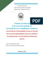 Aplicación de Un Procedimiento Para Control de Los Costos Medioambientales en La Empresa Perforación Extracción Petróleo-Centro