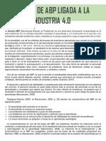 Técnica de ABP ligada a la industria 4.0