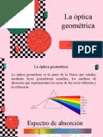 OPTICA GEOMETRICA, LEYES DE REFLEXIÓN Y REFRACCIÓN DE LA LUZ