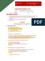 EVALUACIÓN MÓDULO I  2020-II