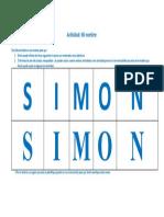 Escritura Simon Con Letra Punteada