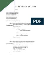 Java in - Ficheiros de Texto