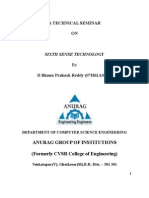 Technology pranav pdf mistry sixth sense