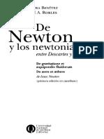 Benítez y Robles. Newton y Los Newtonianos
