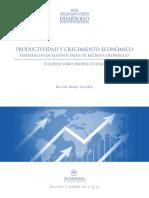 Productividad y Crecimiento Económico. Experiencias de Algunos Países de Reciente Desarrollo