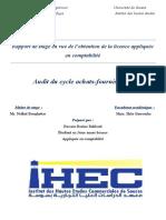 Audit Du Cycle Achat Frs