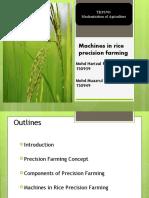 Machines in rice precision farming