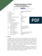 SILABO 2019-II  -INVESTIGACION DE MERCADO