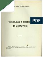 Gnoseología y ontología en Aristóteles