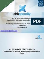 Congreso Delitos Informáticos en la Universidad Santiago de Cali Colombia