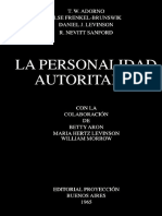 Adorno, T. (1965). Personalidad Autoritaria