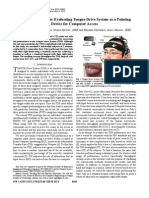 Using Fitts's Law for Evaluating Tongue Drive System as a Pointing