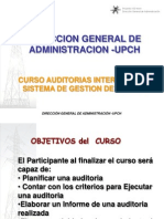 Curso Auditores Internos Upch Cur So Material