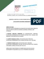 Constitución Sociedad Anónima Importaciones Ferreteros Peru