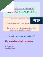 Curente Artistice Baroc Clasicism Pptx