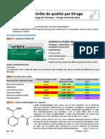 TP n�2 - Titrages pH-m�triques (Titrage de l'aspirine)