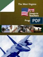 West Virginia Troops to Teachers Program Guide