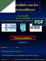 Generalites-osteosyntheses