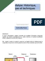 Hémodialyse, Historique, Principes Et Techniques
