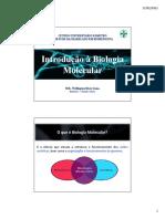 AULA 1 - Introdução a Biologia Molecular