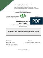 stabilité des boucles de régulation floue
