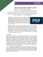Educação e tecnologias digitais políticas públicas em debate - Anais 5º SENID