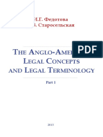 The Anglo American Legal Concepts and Legal Terminology