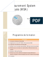 Formation MSA