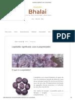 Lepidolita_ Significado, Usos e Propriedades