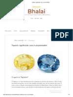 Topázio_ Significado, Usos e Propriedades