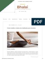 Como Meditar_ o Básico Da Meditação Para Iniciantes