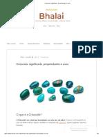 Crisocola_ Significado, Propriedades e Usos