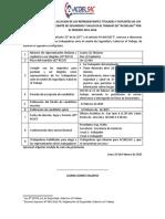 01.- Convocatoria para la Elección de los Representantes Titulares y Suplentes