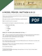 A Model Prayer