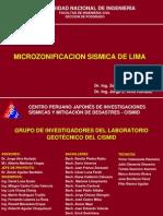Micro Sismica Lima Cismid