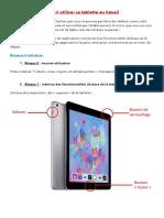 tuto iPads pour les profs