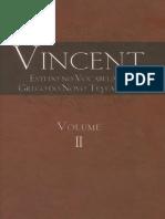 Vincent, Estudo No Vocabulario Grego Do Novo Testamento, Vol.2