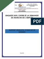 Enquete Sur Offre Et La Demande Du Marche de Emploi.docx
