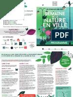 Programme Nature en Ville