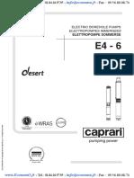 Pompe Immergee Caprari E4 E6 Desert EconomO
