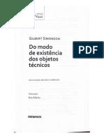 Gilbert Simondon - Do modo de existência dos objetos técnicos (2020, Contraponto) - libgen.li