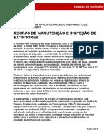 REGRAS DE MANUTENÇÃO E INSPEÇÃO DE EXTINTORES