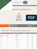 Introduction Au Langage Java