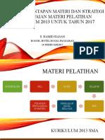 5.Strategi Penyampaian Materi Pelatihan Kur-13_Prof. Said Hasan_2017