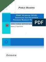 PSAK 18 (revisi 2010) Akuntansi dan Pelaporan Program Manfaat Purnakarya