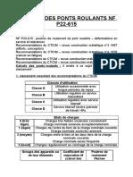 Calculs Des Ponts Roulants Nf p22-615