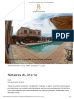 le travaille d'un notaire au Maroc - Immobilier Marrakech