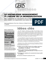MAN_128a Le knowledge management à l'heure de la mondialisation