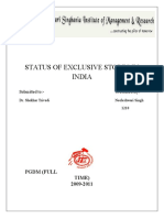 STATUS OF EXCLUSIVE STORES IN INDIA