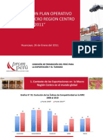 Plan Operativo Promperu Macro Region Centro 2011